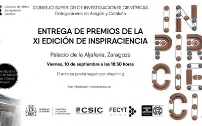El CSIC lliura els premis de la XI edició d'Inspiraciencia a Saragossa